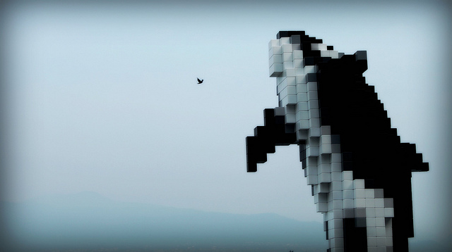 Picture of Digital Orca sculpture by Daniel Dionne