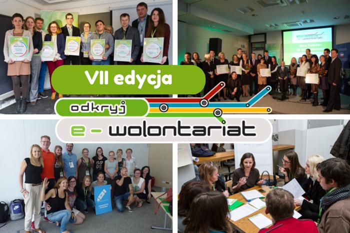 """Wystartowała VII edycja konkursu grantowego """"Odkryj e-wolontariat""""!"""