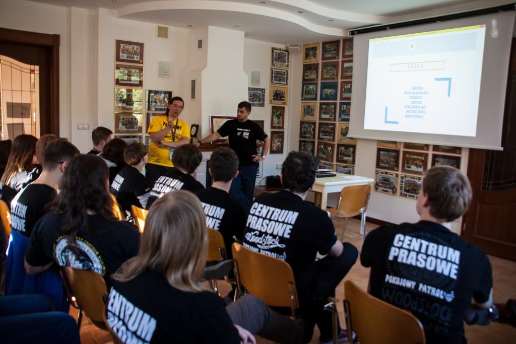 Spotkanie wolontariuszy Centrum Prasowego WOŚP. fot. Anna Migda