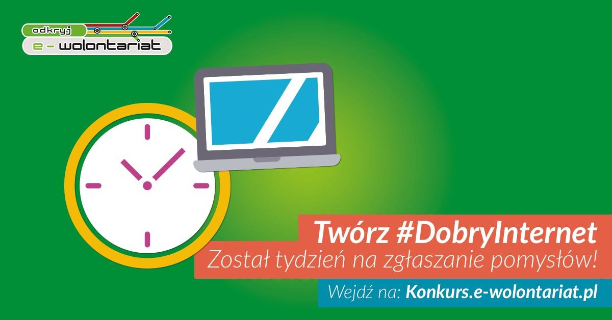 """Ostatnie dni naboru wniosków w konkursie """"Odkryj e-wolontariat"""""""